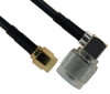 SMA MALE TO N MALE RIGHT ANGLE FOR RG58 -- RF-70A60-36