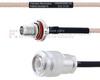 SMA Female Bulkhead to TNC Male MIL-DTL-17 Cable M17/113-RG316 Coax in 8 Inch -- FMHR0098-8 -Image