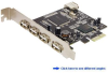 5-Port Hi-Speed USB 2.0 PCI Express (x1) Card -- PEU521