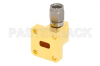 WR-28 UG-599/U Square Cover Flange to 2.92mm Male Waveguide to Coax Adapter Operating from 26.5 GHz to 40 GHz -- PE-W28CA002 - Image