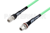 N Female Bulkhead to TNC Male Low Loss Test Cable 36 Inch Length Using PE-P300LL Coax, RoHS -- PE3C1084-36 -Image
