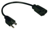 Standard Power Extension Cord, 10A, 18AWG (NEMA 5-15P to NEMA 5-15R) 1-ft. -- P022-001