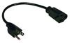 Standard Power Extension Cord, 10A, 18AWG (NEMA 5-15P to NEMA 5-15R) 1-ft. -- P022-001
