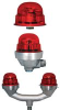 LED L-810 RED OBSTRUCTION LIGHT, 6.5W -- 32T8750