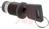 Switch, KEYLOCK, Sealed, 16MM HIGH SECURITY, ANTISTATIC, 3 Position(ON-OFF-ON) -- 70192888 - Image