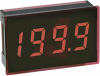 Voltmeter, 3.5 digit red LED display, 200mV, 8 pin SIL, IP65 -- 70101395 - Image