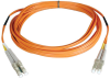 Duplex Multimode 50/125 Fiber Patch Cable (LC/LC), 7M (23-ft.) -- N520-07M