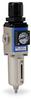 Pneumatic / Compressed Air Filter-Regulator: 1/8 inch NPT female ports -- AFR-2133-D - Image