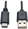 USB 2.0 Cable, USB Type-A Male to USB Type-C (USB-C) Male, 3-ft. -- U038-003 - Image