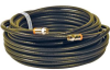 Steren 50' Black RG6 Quad Shield Coaxial Cable Assembly -- BL-215-350BK
