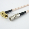 10-32 Male to RA SMB Plug Cable RG316 Coax in 120 Inch -- FMC1026316-120 -- View Larger Image