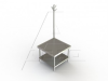 MSRU Series, Stainless Steel NSF Listed Machine Stand -- 4MSRU-3036