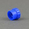 Fisnar 5401011 Syringe Barrel Flat Tip Cap Blue (BULK) -- 5401011
