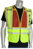 PIP 302-PSV-RED Yellow/Red M/XL Mesh/Solid High-Visibility Vest - 2 Pockets - 616314-07322 -- 616314-07322