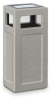 Receptacle,Ash/Trash,Hinged Top,Gray,12G -- 2KDN2
