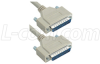 Reversible Hardware Molded D-Sub Cable, DB25 Male / Male, 10 ft -- CRMN25MM-10