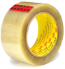 3M Scotch 351 Box Sealing Tape Clear 48 mm x 50 m Roll -- 351 CLEAR 48MM X 50M -Image
