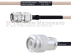 SMA Male to TNC Male MIL-DTL-17 Cable M17/113-RG316 Coax in 12 Inch -- FMHR0096-12 -Image