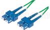 9/125, Single Mode Fiber Cable, Dual SC / Dual SC, GRN 10m -- SFODSC-GR-10 -Image