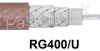 Flexible RG400 Stranded Center Conductor Coax Cable 0.195 Diameter With Double Shielded Tan FEP Jacket -- RG400/U