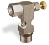 "(Formerly B1630-7X01), Inverted Angle Small Sight Feed Valve, Solid Gasket, 1/4"" Female NPT Inlet, 1/4"" Female NPT Outlet, Handwheel -- B1628-333B2HW -- View Larger Image"