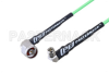 N Male Right Angle to SMA Male Right Angle Low Loss Cable 36 Inch Length Using PE-P160LL Coax -- PE3C5281-36 -Image