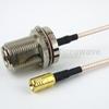 N Female Bulkhead to SMB Plug Cable RG316 Coax in 36 Inch -- FMC1116316-36 -Image