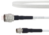 Broadband 75 Ohm N Male to 75 Ohm F Male Cable 75 Ohm FM-SF200LL75 Coax in 48 Inch and RoHS Compliant -- FMTC606-48 -Image