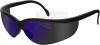 Radians Journey Safety Glasses with Black Frame and Blue -- JR0170ID