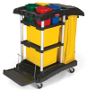 Rubbermaid Microfiber Janitor Cart with Color Coded Pails -- 8024