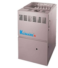 Single-stage gas furnace, features a hot surface ignition system and a tubular heat exchanger.