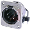 5 pole male receptacle horizontal pcb mounting nickel housing and silver contact -- 70088317 - Image
