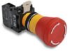 Pushbutton, 22mm non-metallic, trigger-action twist-to-release, ... -- E22LTA2QB