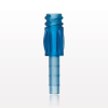 Female Luer Lock with Finger Grips, Blue -- 11097 -Image