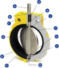 """A20 Mosites Butterfly Valve -- A20 Butterfly Valve6"""" -- View Larger Image"""
