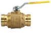 Lead Free* 2-Piece, Full Port, Brass Ball Valve with Integral Press Fitting End XLC Connection -- LFFBV-3-Press XLC