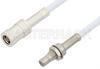 SMB Plug to SMB Jack Bulkhead Cable 36 Inch Length Using RG188-DS Coax -- PE34489-36 -Image