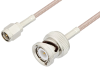 SMA Male to BNC Male Cable 12 Inch Length Using RG316 Coax, LF Solder, RoHS -- PE3C2360LF-12 -Image