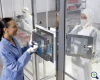 Modular Clean Room Acrylic Pass-Through -- 6704-94B