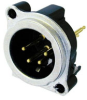 4-Pole XLR Male Receptacle, Vertical PCB Mount -- NEUNC4MBV