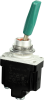 MICRO SWITCH TL Series Toggle Switch, Single Pole Single Throw (SPST) 2 Position (Off - On), Screw Terminals, 29 mm Green Plastic Tab Lever, Stainless Steel Rivets -- 1TL119-2-A05 -Image
