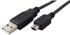 1' USB 2.0 Cable, A to Mini 5 Pin, M-M, Black -- 150137