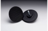 3M 04132 Hard Black Disc Pad - 3 in DIA - 1/16 in Thick - 1/4 in Shank - Shank External Thread Attachment -- 048011-04132 -- View Larger Image