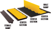 Linebacker® Cable Management 5-Channel AMS Cable/Hose Protector Ramp, Yellow Jacket Series -- YJ5-125-AMS-F-B