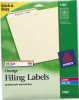AVERY PERMANENT ADHESIVE LASER/INKJET FILE FOLDER LABELS, ORANGE BORDER, 750/PACK -- 10132139