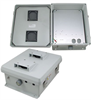 12x10x5 Inch Vented Weatherproof NEMA Enclosure with Mounting Plate -- NB121005-00V -Image