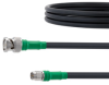 SMA Male to BNC Male Cable LMR-240 Coax in 36 Inch with Times Microwave Connectors and RoHS -- FMC0208240LF-36 -Image