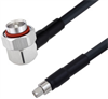 Low Loss 7/16 DIN Male Right Angle to SMA Male Cable Assembly using LMR-400-DB Coax, 5 FT with Times Microwave Components -- LCCA30318-FT5 -Image