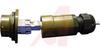 connector,metal circular,receptacle w/bkshl,plastic gland,rj45 ethernet,green -- 70026485