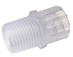 Adapter, polypropylene, male luer lock to 1/8-27 thread, 25/pack -- GO-45518-86 - Image
